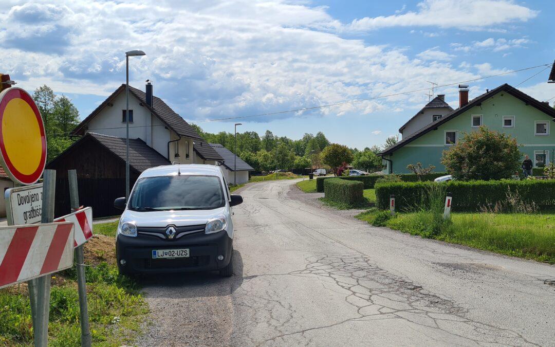 Začetek obnove Podgorske ulice v Kočevju